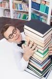 Sus libros del favorito. Fotos de archivo libres de regalías