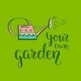 Sus propias letras del jardín stock de ilustración