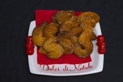 Susamielli Italiano dulce de Christnas del traditionale Imagen de archivo libre de regalías