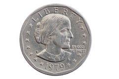 Susan b Anthony dolara moneta fotografia stock