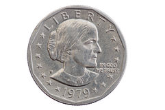 Susan B Anthony Dollar Coin Arkivbild