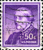 Susan B. Anthony US Postage Stamp Stock Photo