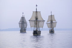 The Susan Constant, Godspeed and Discovery, stock image