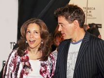 Susan Downey e Robert Downey Jr fotos de stock royalty free