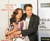 Susan Downey and Robert Downey Jr. Stock Photography