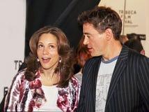 Susan Downey y Robert Downey Jr fotos de archivo libres de regalías