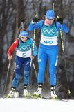 Susan Dunklee of the United States competes in biathlon Women`s 15km Individual at the 2018 Winter Olympics. PYEONGCHANG, SOUTH KOREA - FEBRUARY 15, 2018: Susan Royalty Free Stock Photo