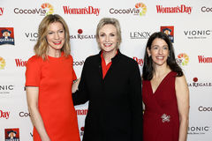 Susan Spencer, Jane Lynch, Kassie Means Lizenzfreies Stockfoto