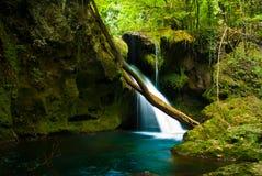 Susara waterfall. Waterfall in Cheile Nerei natural park stock photo