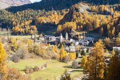 Susch - Engadine - Switzerland stock images