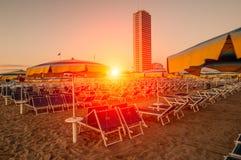 Suset στην παραλία Στοκ φωτογραφία με δικαίωμα ελεύθερης χρήσης