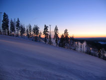 suset гор Стоковое Фото