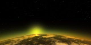 suset космоса Стоковая Фотография