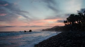 Suset de l'EL Tunco, Salvador de plage photos stock