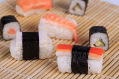 Sush and Roll Royalty Free Stock Images