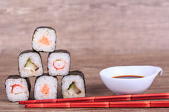 Sush and Roll Royalty Free Stock Photography