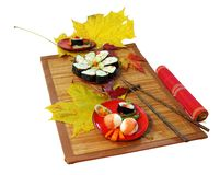 Sush served in autumn Stock Photo