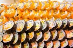 Sushi é possível usar-se como um fundo Fotografia de Stock