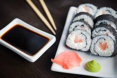 - sushi łososia Fotografia Royalty Free
