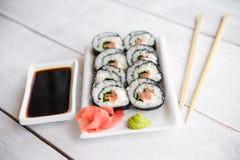 - sushi łososia Zdjęcie Stock