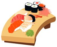 Sushi. Illustration of various types of sushi Royalty Free Stock Images