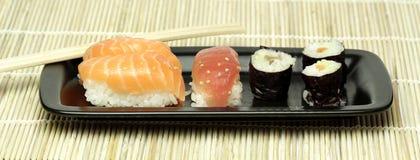 Sushi. Japanese fich food called sushi Stock Image