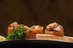 Sushi. Typical Japanese food and assiatica served fresh Stock Photo