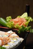 Sushi. Typical Japanese food and assiatica served fresh Royalty Free Stock Images