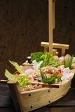 Sushi. Typical Japanese food and assiatica served fresh Royalty Free Stock Photos