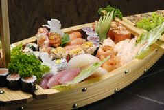 Sushi. Typical Japanese food and assiatica served fresh Stock Photos