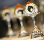 Sushi. Rolls on the glass Royalty Free Stock Photos