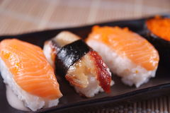 Sushi. A variety of sushi on a table Stock Images