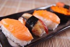 Sushi. A variety of sushi & sashimi Stock Photo