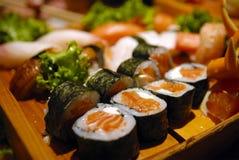 Sushi. Sashimi platter close-up  shot Royalty Free Stock Image