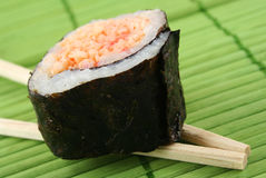 Sushi. Piece of sushi close up - narrow focus Stock Image