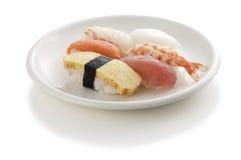 Sushi. Japanese tipical sushi on white plate Stock Photo