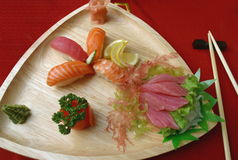 Sushi 2. Fish and wasabi and sushi Royalty Free Stock Image