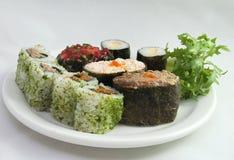 Sushi 2 van de plaat Royalty-vrije Stock Afbeeldingen