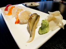 Sushi. Selection on a plate Royalty Free Stock Photography