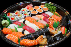 Sushi. A fresh platter of sushi stock photography