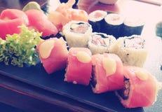 Sushi. Japanese tuna, maguro sushi set Stock Image