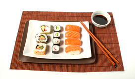 Sushi. Composition sushi on a white background Royalty Free Stock Images