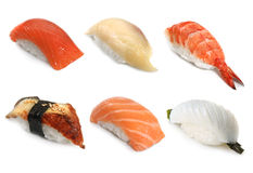 Sushi. Some japanische sushi on a white background Royalty Free Stock Photos