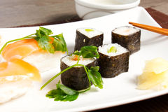 Sushi. On the table and fish Stock Image
