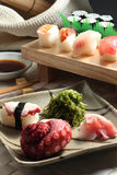 Sushi. A set of eatable sushi royalty free stock photos