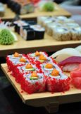 Sushi. Variety of traditional japanese sushi, close-up stock images