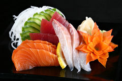 Sushi. A sushi plate with salmon and tuna fish Stock Images