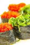 Sushi. With nori & flying fish caviar Royalty Free Stock Photos