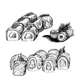 Sushi. Royaltyfri Bild