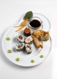 Sushi. A Sushi platter isolated on a white background stock photo